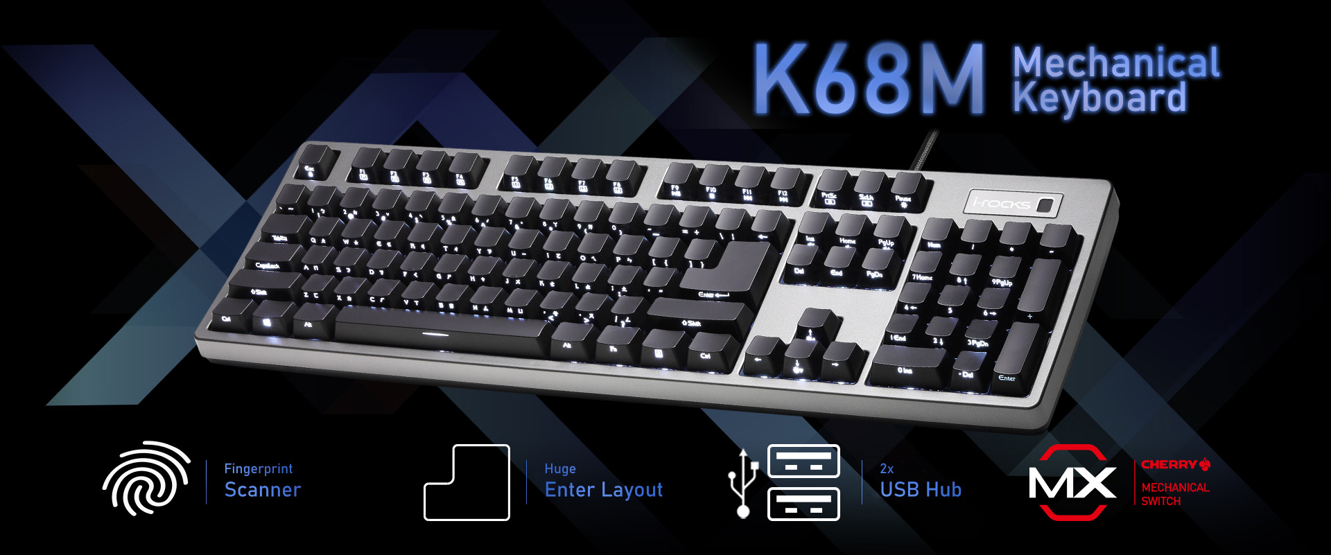 K68M Fingerprint Keyboard